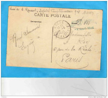 Guerre 14-18-sce Santé-cachet Hopital Temporaire N°8- MACON- Cpa Macon La Poste-  4 Aout 1915 - Marcophilie (Lettres)