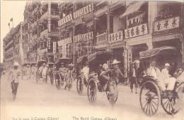 CHINE   SUR LE QUAI  A CANTON    BELLE CARTE ANIMEE - Chine
