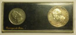 Monaco ESSAI Coffret 1 + 5 Francs 1960 ARGENT / Silver FDC / UNC - Original Box - Uncirculated