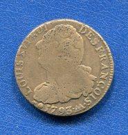 France  2  Sols  1793  Aa  Metz   Poids  24  Gr - 1789 – 1795 Monedas Constitucionales