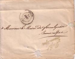 BASSES ALPES -  DIGNE - GRIFFE PREFET DES BASSES ALPES - LETTRE ENTETE DE LA COMMISSION DES HOPITAUX ET HOSPICES DE MAR - Postmark Collection (Covers)