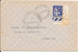 LF192- Lettre Avec Timbre De Franchise Militaire N°9 Et Coin Daté Camp De Doncourt - Poststempel (Briefe)