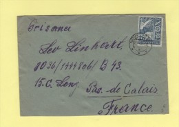 Novy Jicin - 1947 - Destination Depot De Prisonniers De Guerre Allemands A Lens - Tschechoslowakei/CSSR