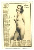 Portuguese 1955 Calendar - Nude - Boas Festas - Bad Grade - Empty Back Side - Não Tem Nada Na Parte De Trás - Calendriers