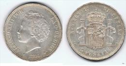 ESPAÑA ALFONSO XIII 5 PESETAS 1894 94 PLATA SILVER C56 - [ 1] …-1931 : Reino