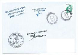 14341 - MARION DUFRESNE - ARRÊT TECHNIQUE -BREST Mai 2013 - Terres Australes Et Antarctiques Françaises (TAAF)