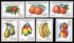 Madagascar, 1992, Fruits, Food, MNH Set, Michel 1359-1365 - Alimentation