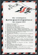 WW1 Germany Kriegsereignisse Flag Postcard August 1915 - Patriotic