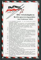 WW1 Germany Kriegsereignisse Flag Postcard February 1915 - Patriotic