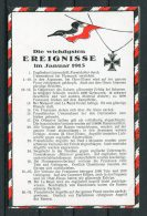WW1 Germany Kriegsereignisse Flag Postcard January 1915 - Patriotic