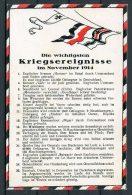 WW1 Germany Kriegsereignisse Flag Postcard November 1914 - Patriotic