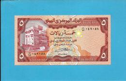 YEMEN ARAB REPUBLIC - 5 RIALS -  ND ( 1991 ) - P 17.c -  Sign. 8 - UNC. - Central Bank Of Yemen - 2 Scans - Yemen
