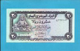 YEMEN ARAB REPUBLIC - 20 RIALS -  ND ( 1985 ) - P 19.c -  Sign. 8 - UNC. - W/ VERTICAL LINES - Central Bank Of Yemen - Yémen