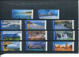 (stamps 475 - 4-60-2015) Australia Used Stamps - International Post (11 Stamps) - 2010-... Elizabeth II