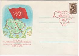 Lithuania USSR 1958, 40th Anniv Of Soviet Revolution, Canceled In Vilnius, Stamp Kapsukas 1957 - Lithuania