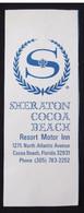 HOTEL MOTOR INN SHERATON COCOA FLORIDA CALIFORNIA USA UNITED STATES LUGGAGE LABEL ETIQUETTE AUFKLEBER DECAL STICKER - Hotel Labels
