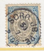 DENMARK   41 B    PERF 13   (o)  INVERT.  FRAME   Wmk 112  1895-1901  Issue - 1864-04 (Christian IX)