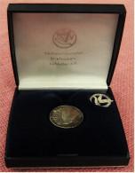 Kleine Medaille Mit Anstecknadel 925 Silber - Verband Deutscher Brieftauben-Liebhaber E.V.  - Im Etui - Allemagne