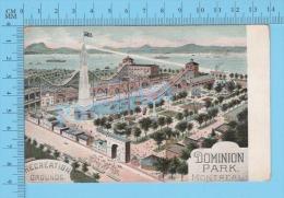 Montreal Quebec ( Dominion Park , Recreation Grounds ) Post Card Carte Postale 2 Scans - Foires