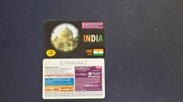 India-(012 Smile)-500 Units-(this Card Israel Out Side From Talk From India)-used Card+1card Prepiad Free - India