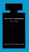 Cartes Parfumées Cartes NARCISO RODRIGUEZ FOR HER  Réplique Flacon - Modern (from 1961)