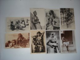 Beau Lot De 8 Cpa Nus Afrique ...et Maghreb...voir Scans - Cartes Postales
