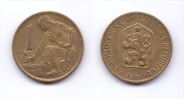 Czechoslovakia 1 Koruna 1984 - Tchécoslovaquie