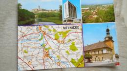 Czech Rep. - MELNIK -  Melnicko -  Neratovice - Vsetaty - Kostelec Nad Labem - Map Carte    D130710 - Tsjechië