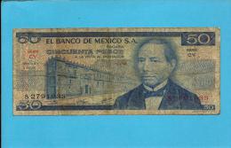 MEXICO - 50 PESOS - 8.7.1976 - Pick 65.b - Série CY - JUAREZ- 2 Scans - Mexico