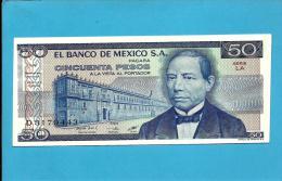 MEXICO - 50 PESOS - 27.1.1981 - Pick 73 - Série LA - JUAREZ- 2 Scans - Mexico