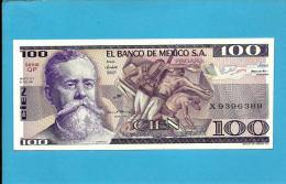 MEXICO - 100 PESOS - 27.1.1981 - Pick 74.a - Série QP - UNC. - V. CARRANZA- 2 Scans - Messico