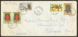 Marcophilie Enveloppe 1966 Mananjary Malagasy Madagascar - Madagaskar (1960-...)