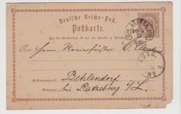 Brs220/ Lübeck HUFEISEN (22.2.) Auf P 1, Ersatzweise Verwendet Mai - Juni 1873 (2 Monate) - Deutschland
