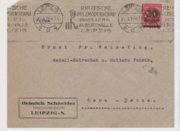 Inf306/ Firmenbrief Heinrich  Schneider Leipzig Nach Gera-Reuss., Pelzmodenschau 1923 - Allemagne