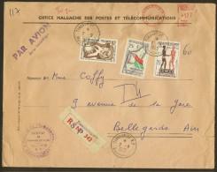 Marcophilie Enveloppe 1963 Tananarive  Malagasy Madagascar - Madagascar (1960-...)