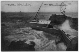 Saint Malo Ille Vilaine Naufrage Navire Hilda 1910 état Superbe - Saint Malo