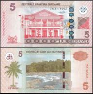 Surinam 5 Gulden 2010 Pick 157 UNC - Surinam