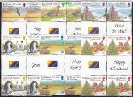 Falkland Islands 1999 Millennium 6v 2x Gutter ** Mnh (22087) - Falkland Islands