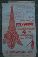 75- PARIS - TOUR EIFFEL- RARE AFFICHE RADIO VOXAPHONE - SONORISATION- 115 FG POISSONNIERE- - Afiches