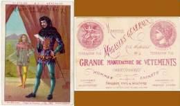 Chromo Magasins Généraux Marseille, Rue Noailles, Terrasson Fils, Histoire Du Vêtement, époque De Philippe Le Bel 1340 - Autres