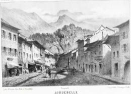 - Vue De AIGUEBELLE   - Dessin De  Loppé  19 éme  - Litho. Originale De La Savoie Historique Et Pittoresque - Lithographies