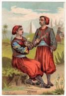 """Chromo """"aux Pyramides, Alger"""", Eugène Joly - Zouave - Chromos"""