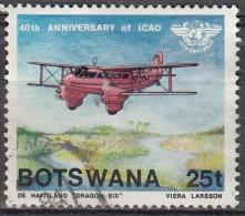 Botswana, 1984 - 25t Dragon Rapide - Nr.352 Usato° - Botswana (1966-...)