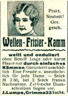 Original-Werbung/ Anzeige 1930 - WELLEN - FRISIER KAMM / LUMPE - GRIMMA - Ca. 35 X  45 Mm - Werbung