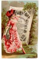 Chromo Femme En Robe, Journal, Parisienne ( Mode ) - Trade Cards