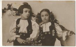 Port Din Straja Petites Filles Costume National  Used From Belenyes 1927 Edit Concordia Arad - Roumanie