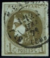 Lot N°611 France N°39Cc Oblitéré Qualité TB - 1870 Emission De Bordeaux