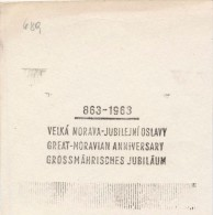 J1906 - Czechoslovakia (1945-79) Control Imprint Stamp Machine (R!): Great-Moravian Anniversary (CZ, GB, D) - History