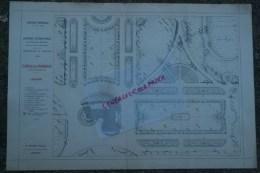 87- LIMOGES - RARE PLAN H. NIVET JEUNE- ARCHITECTE-PAYSAGISTE- EXPOSITION UNIVERSELLE PARIS 1900- PARTERRES LA FRANCAISE - Architecture