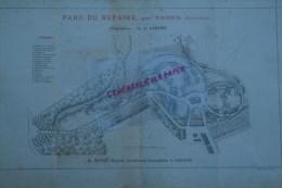19- VIGEOIS- 87- LIMOGES - RARE PLAN H. NIVET JEUNE- ARCHITECTE-PAYSAGISTE-PARC DU CHATEAU DU REPAIRE- M. DE LAPISSE- - Arquitectura